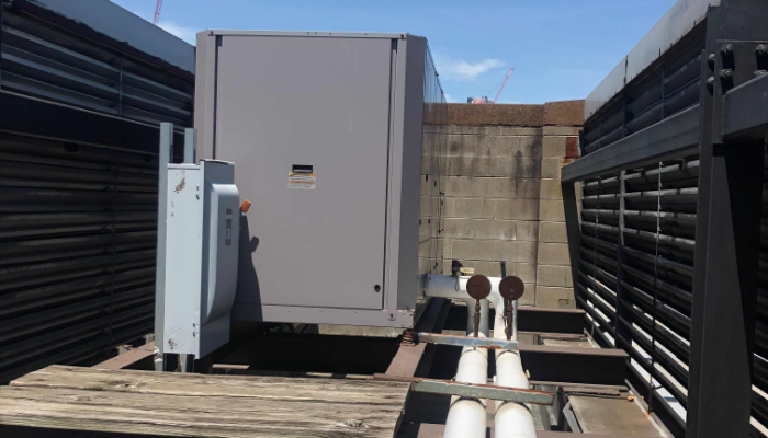 Chiller On Roof 0f Building